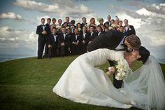 wedding photo by J Garner Photography, the happy couple, wedding party, group portrait, bridesmaids, groomsmen