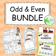 Odd and Even Number BUNDLE by Sand and Sunsets | TpT 100 Number Chart, Cut And Paste Worksheets, Year 2, Teacher Pay Teachers, Teacher Newsletter, Maths, Sunsets, Numbers, Teaching