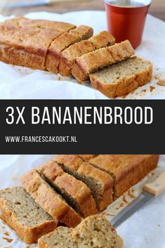 Banana bread with cinnamon - 3 variations - Francesca Cooks - Banana bread recipe 3 variations. The best thing you can do with overripe bananas is to make a bana - Cinnamon Banana Bread, Banana Bread Recipes, Lunch Buffet, Gateaux Cake, Cheesecake, Brunch, Happy Foods, Fun Cooking, Healthy Baking