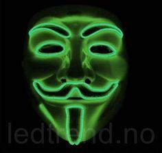 Maske med LED fra ledtrend no