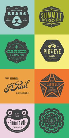 Here's a gorgeous collection of retro/vintage-style logos and badges by Minneapolis-based graphic designer Allan Peters. Coperate Design, Badge Design, Vintage Logos, Vintage Branding, Logo Montagne, Logos Color, Logos Photography, Inspiration Logo Design, Restaurant Logo