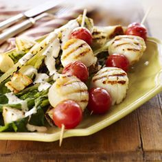 28 Tasty Skewer Recipes for the Grill  Whether you call it a skewer, kabob, kebab, spedini, or saté, these portable and versatile meals-on-a-stick are perfect for outdoor grilling and barbecues. Weve collected 28 skewer recipes with classic and international flavors — pair these skewers with a few grilled side dish recipes.
