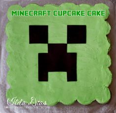 """(I) (L)ove (D)oing (A)ll Things Crafty!: Minecraft """"Creeper"""" Cupcake Cake"""