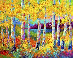 Landscapes Painting - Autumn Jewels by Marion Rose