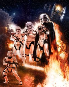 Captain Phasma & Stormtroopers - Star Wars Episode VII - The Force Awakens by Paul Shipper Star Wars Fan Art, Star Wars Vii, Starwars, Sith, Fanart, Episode Vii, Image Digital, Star Wars Collection, Oscar