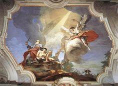 O Sacrífico de Isaac.  Giambattista Tiepolo.  Palácio Patriarcal, Udine.  1726 - 1729