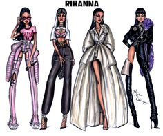RiRi Vanguard - All 4 looks from Rihanna during her VMAs performances