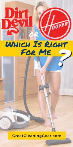 Dirt Devil or Hoover Vacuum? Considering the benefits of Dirt Devil vs Hoover vacuums. We compare the top models of each manufacturer to find which one provide more features. Laminate Flooring Cleaner, Cleaning Tile Floors, Floor Cleaning, Wood Flooring, Hardwood Floors, Best Upright Vacuum Cleaner, Best Vacuum, Deep Cleaning Tips