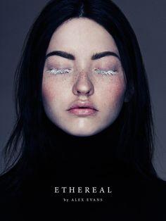 Ethereal - Photographed by Alex Evans  Model Mary / Elmer Olsen Hair & Make-up Natalie Ventola / P1M Nails Nargis Khan / P1M