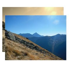 Tatras - photographs of mountains card - invitations personalize custom special event invitation idea style party card cards