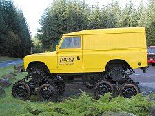 Lix Toll Land Rover's Cuthbertson tracked Series Land Rover.