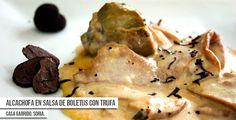 Casa Garrido ya ha convertido su tapa en una receta tradicional. Con boletus, alcachofa y trufa negra