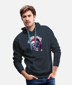 Merry xmas - merry Christmas - Merry Men's Premium Hoodie   Spreadshirt Sweat Shirt, Islam, Green Jeep, Zodiac Shirts, Halloween Men, Hooded Sweatshirts, Hoodies, Vintage T-shirts, Custom Clothes