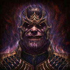 Thanos the mad Titan   #ninjastrokes #FanArt #painting #marvel #conceptart #illustration #characterdesign #digitalart #thanos #infinitywar #avengersinfinitywar
