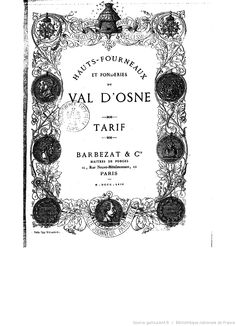 Cover of the Val d'Osne Catalog of Paris, Garden Gates, Cast Iron, Planting Flowers, Catalog, Statue, Cover, Stone, Montmartre Paris