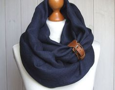 LINEN Infinity Scarf tube scarf with cuff, pure linen scarf, spring fashion Dyi Couture, Autumn Winter Fashion, Spring Fashion, Diy Scarf, Scarf Wrap, Ethno Style, Gilet Long, Tube Scarf, Poncho