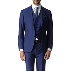 6a1457436245b9 PAUL SMITH LONDON Three-piece Regent suit (Bright blue June Bride, Bride  Suit