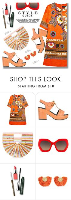 """Orange Summer"" by drigomes ❤ liked on Polyvore featuring Etro, Cotélac, Cult Gaia, Alice + Olivia, Clinique and Katerina Makriyianni"