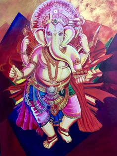 """Ganesha 36x48"""" NOT FOR SALE"""