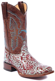 Turquoise Floral Comfort Boot Lagrange Leather #SephoraColorWash