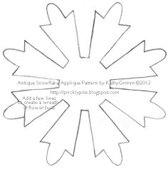Snowflake Patterns To Print  All Printables Snowflake Template