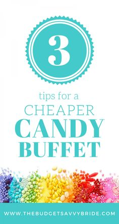 Tips for a cheaper candy buffet: Learn how to cut costs on your candy purchases if you're thinking about creating a candy buffet for your wedding. Pink Candy Buffet, Candy Buffet Tables, Candy Table, Buffet Ideas, Birthday Candy Buffet, Dessert Table, Budget Baby Shower, Cheap Baby Shower, Cheap Candy