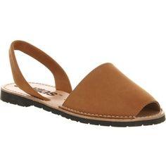 8cc2c3768da6 SOLILLAS Cuero nubuck leather peep-toe sandals Bright