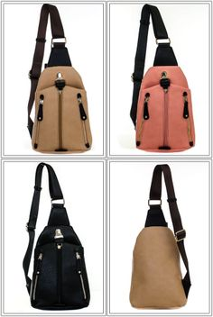Unique Sporty Style Multi Pocket Cross Body Messenger Back Pack Bag