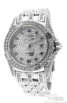 72fe139042f Breitling Callistino 18k White Gold Diamond   Sapphire Watch for SOLD for  sale from a Seller on Chrono24