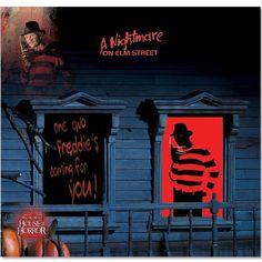 A Nightmare on Elm Street Freddy Krueger Window Silhouette #Halloween2013