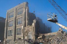 Demolition of the West Philadelphia Catholic High School for Boys. Catholic High, Philadelphia, Nostalgia, High School, Sad, Memories, Future, Boys, Travel