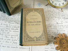 Vintage French book  Anthologie des Romanciers du by LaBelleVille