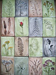 Ceramic souvenirs with floral prints / Купить Магнитики-миникартинки с отпечатками растений - комбинированный, магнитик от природы, лето, сувенир, отличный подарочек
