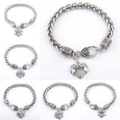 Hot Fashion Family Jewelry Mom Sister Daughter Teacher Bracelet Best Friend Hope Heart Rhinestone Bracelet For Men Women Gifts