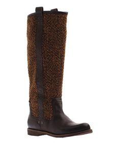 Love this Dark Brown Putney Leather Boot on #zulily! #zulilyfinds