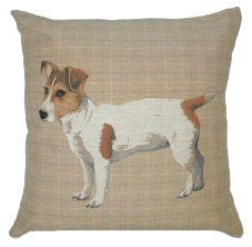 Jack Russell Belgian Tapestry Dog Cushions http://www.abentleycushions.co.uk/detail.asp?pID=2823