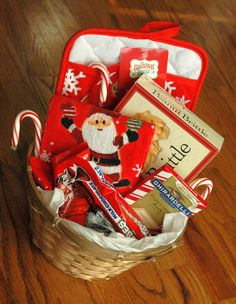 DIY Gift Baskets - these items could probably be found in the dollar section at Target!