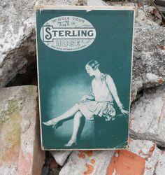 1920s Sterling Hose Hosiery Box Vintage Womens by MDMvintage