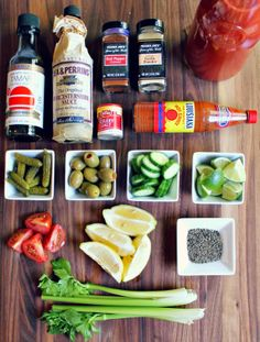 ingredients for the perfect Bloody Mary Mix #pinnaclecocktailclub