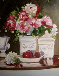 RED APPLES cecilia rosslee print