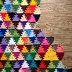 Triangle Blanket - Interview with Awesome Crochet Blanket Artist Sanita Brensone (BrightBag)