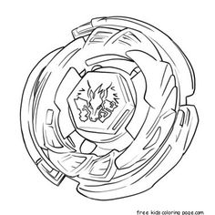printable beyblade coloring pages from metal fusion