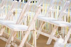 Colorful ribbons on every chair – simple details can create amazing events!