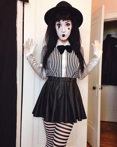 """1,283 Likes, 22 Comments - Miranda Rights™ (@mirandarightsofficial) on Instagram: """"Day 12 of #31DIYsTilHalloween is my mime!  Better late than never! I feel disgustingly cute. This…"""""""