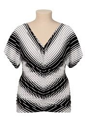Cinched front Striped plus size Dolman Top - maurices.com