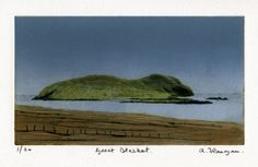 This print depicts the Great Blasket Island, which is situated off the Dingle Peninsula, on the coast of Co Kerry. This Carborundum/Drypoint print is in an edition of and is printed on Fabriano paper using Akua Intaglio inks. Irish Art, Limited Edition Prints, Coast, Island, Artist, Painting, Outdoor, Image, Printed