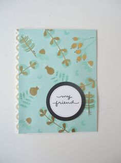 Pin by homemadeinla rania r on handmade greeting cards for sale beautiful happy birthday friend card handmade greeting card mint green with gold embossed highlights this is a gorgeous card m4hsunfo