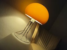 60's 70's modernist Herda table lamp, Guzzini stilnovo Fog Morup panton eames