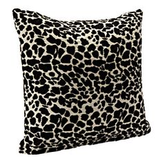 Black Animal Print Accent Pillow   Overstock.com Shopping - Great Deals on Throw Pillows