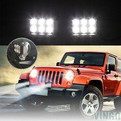 4X 48W LED Arbeitsscheinwerfer Offroad Scheinwerfe Für Jeep SUV Bagger 12V 24V